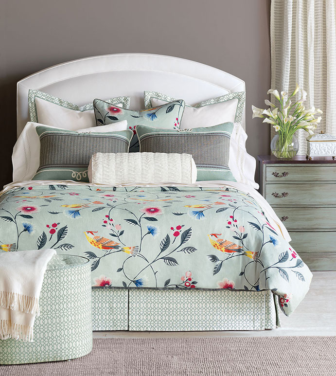 gwyneth seafoam green beddingmint green floral beddingbird bedding