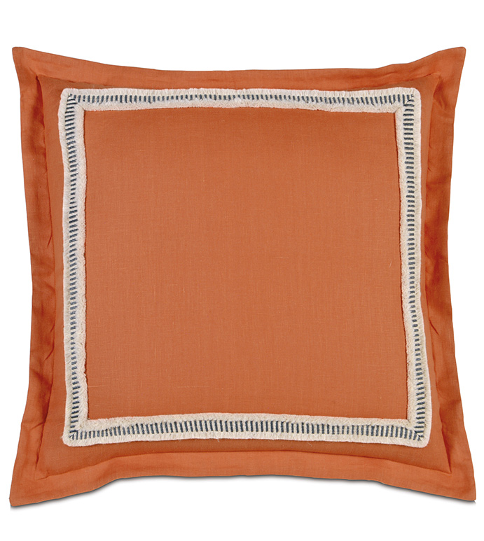 Ultrasoft Euro Square Decorative Sham Pillow White : Niche Luxury Bedding by Eastern Accents - Breeze Tangerine Euro Sham
