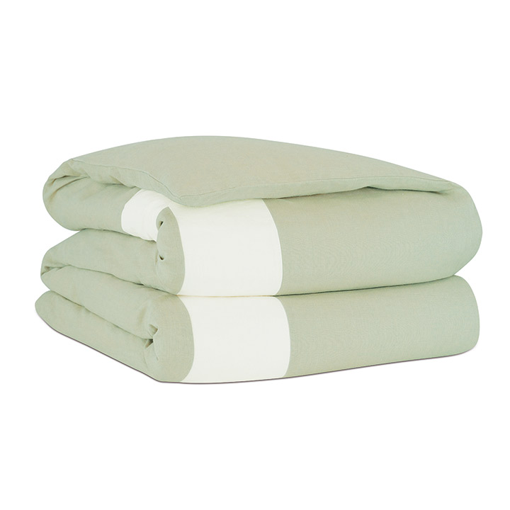 Bel Air Linen Duvet Cover in Mint