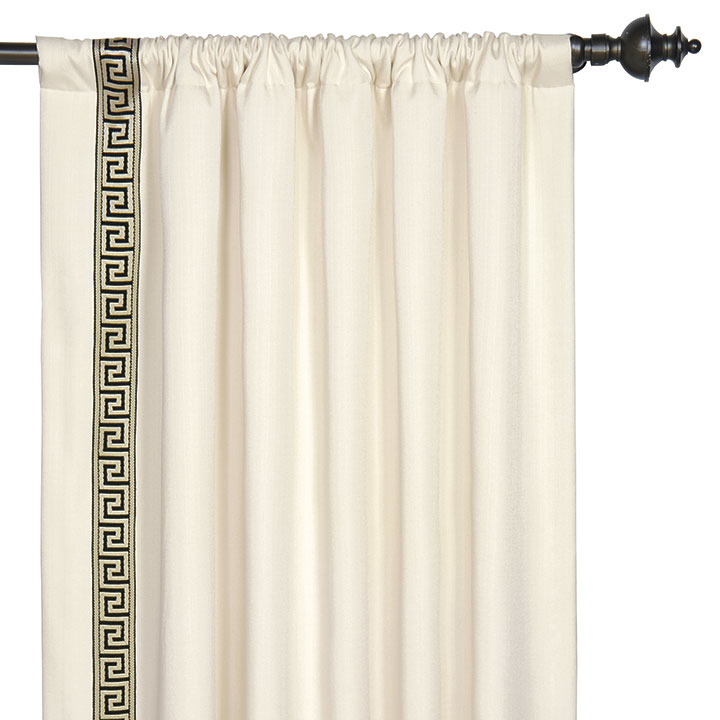Abernathy Greek Key Curtain Panel (Right)