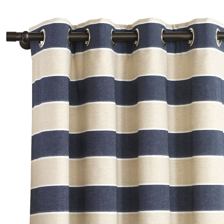 Abbot Indigo Curtain Panel