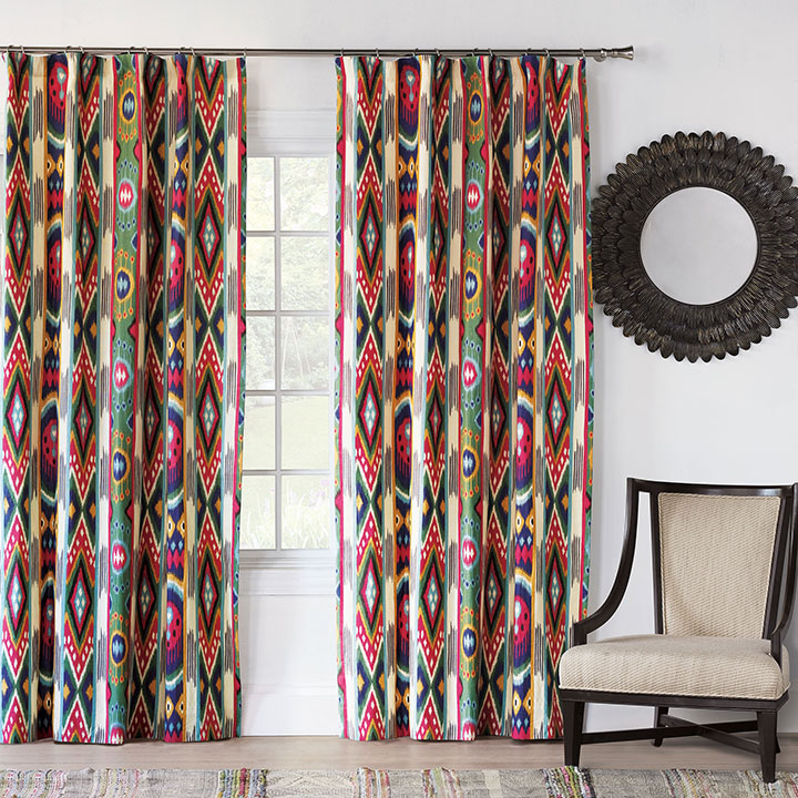Akela Ikat Curtain Panel