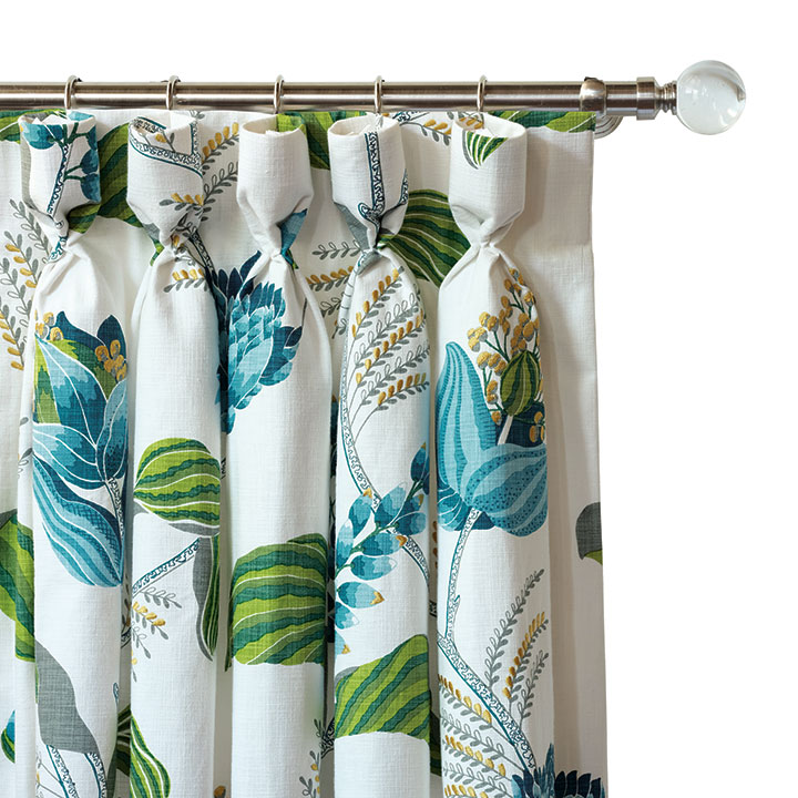 CLEMENTINE EMBROIDERED CURTAIN PANEL