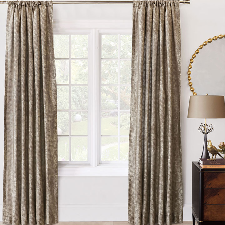 Indochine Metallic Curtain Panel
