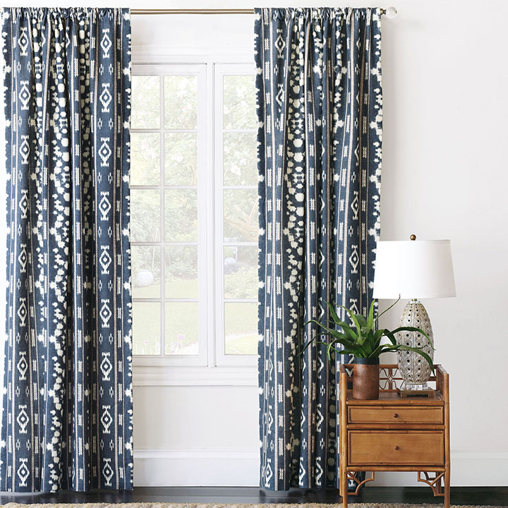 Saya Ikat Curtain Panel
