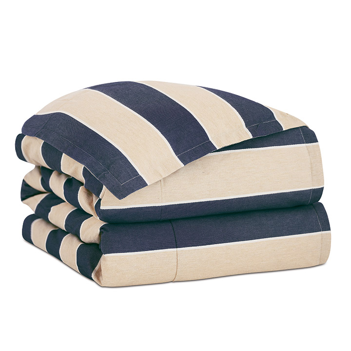 Abbot Indigo Duvet Cover and Comforter