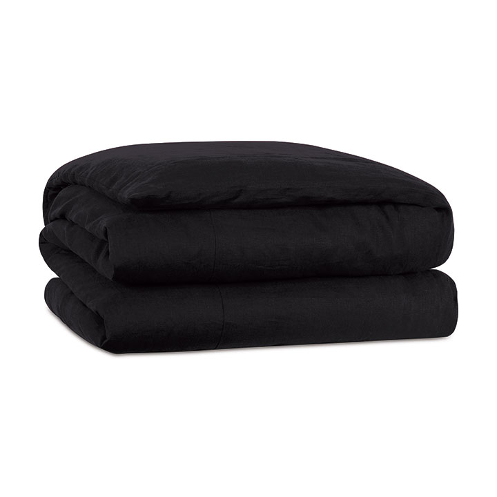 Resort Black Duvet Cover