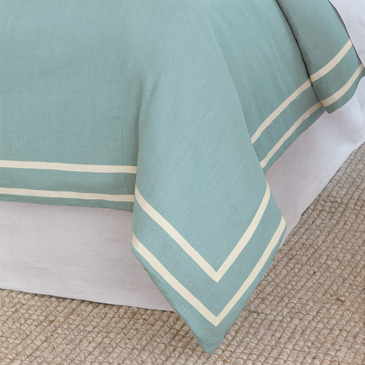 Resort Aqua Fret Duvet Cover