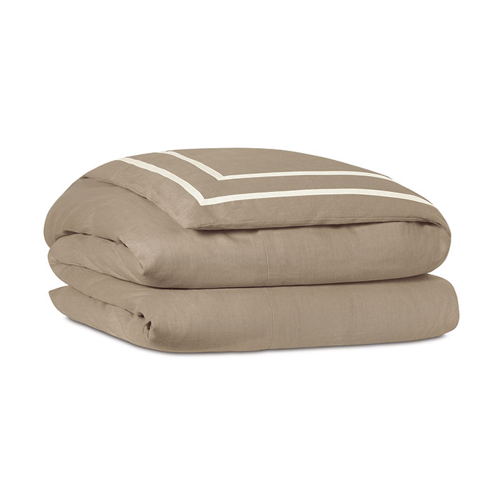 Resort Bisque Fret Duvet Cover