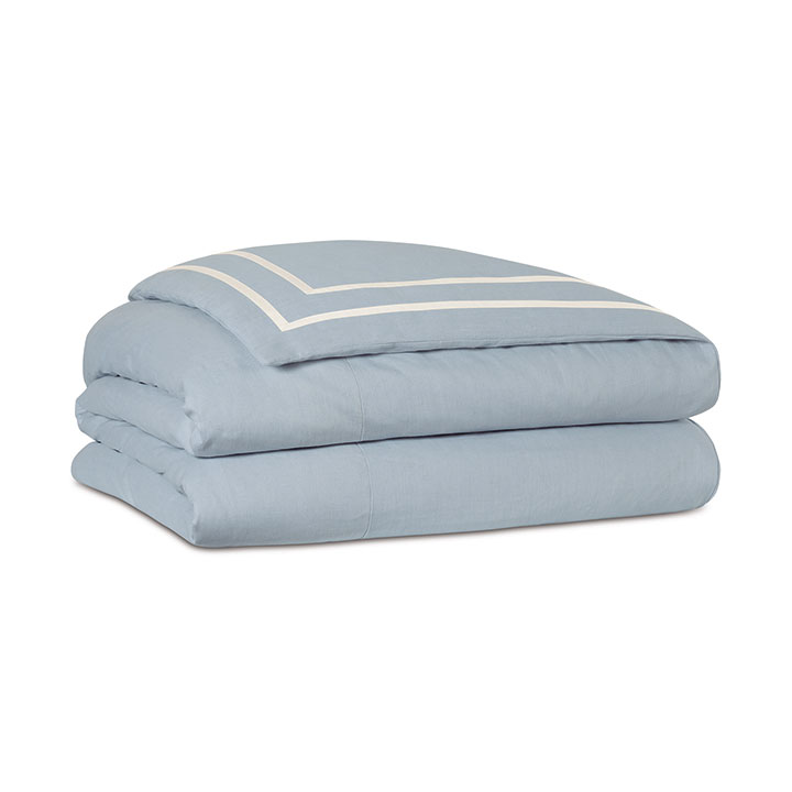 Resort Sky Fretwork Duvet Cover