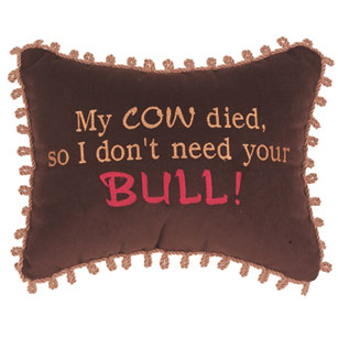 My cow died, so I don't need your Bull!