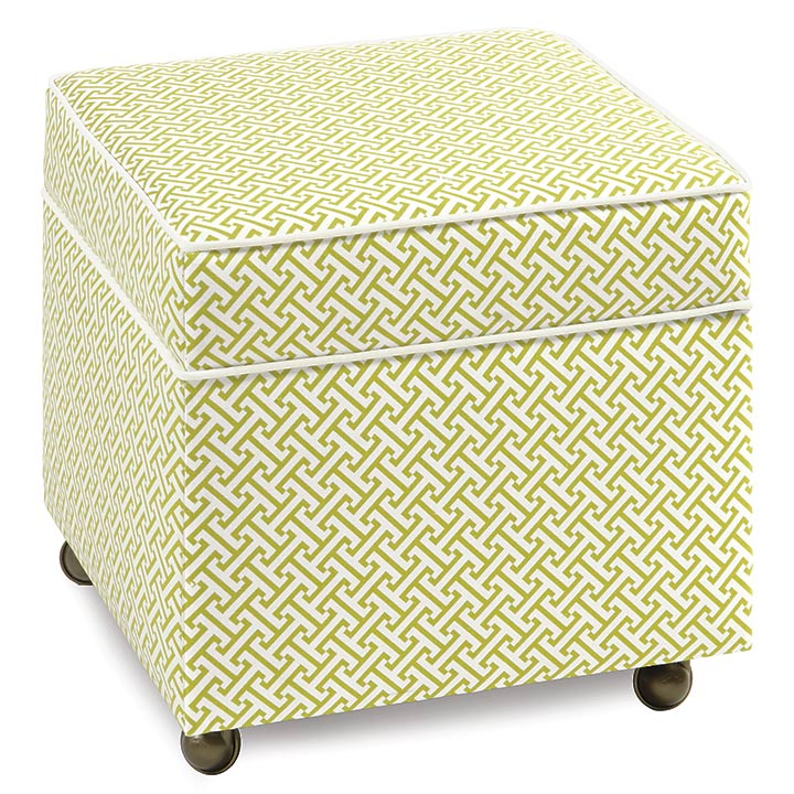 CHIVE SPARROW STORAGE BOXED OTTOMAN