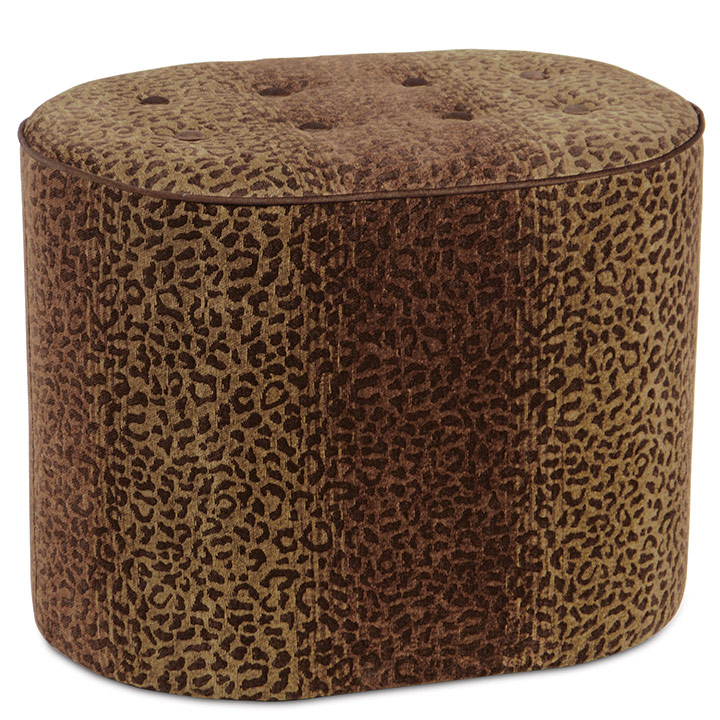 CONGO BROWN & SPICE OVAL OTTOMAN