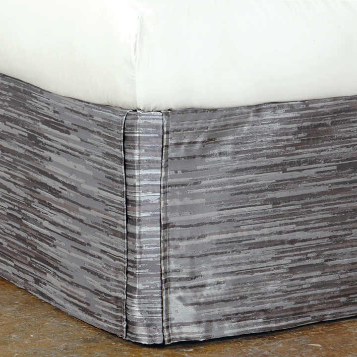 Horta Pewter Bed Skirt