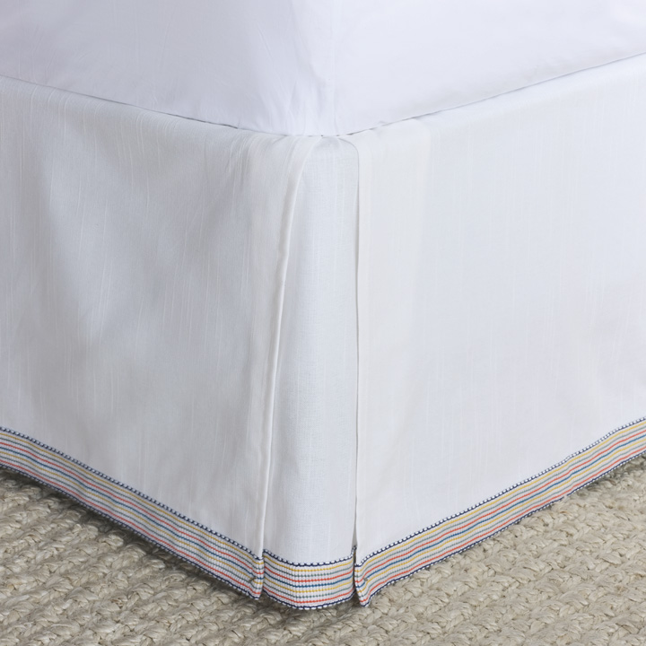PALOMA PLEATED BED SKIRT IN WHITE