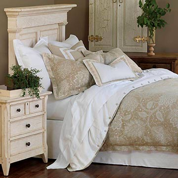 Aileen - tan paisley bedding,neutral paisley bedding,neutral floral bedding,linen bedding,white,cream,tan,ivory,floral,paisley,white and tan,classic,transitional,neutral,linen,floral print