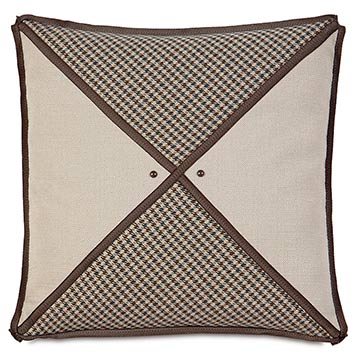 Aiden Houndstooth Insert Decorative Pillow