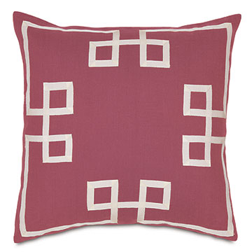 Resort Bloom Fret Accent Pillow