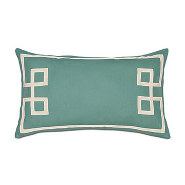 Resort Aqua Fret Accent Pillow