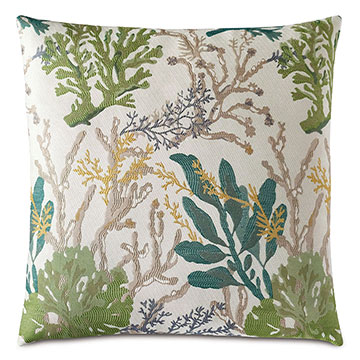 Corraline Coral Reef Decorative Pillow