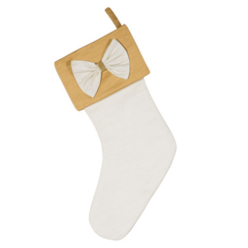 GOLD BOW STOCKING