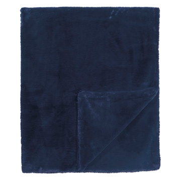 Fur Navy Throw