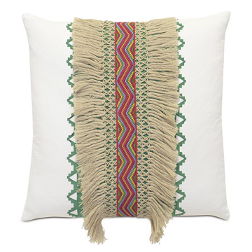RAINBOW FRINGE DECORATIVE PILLOW