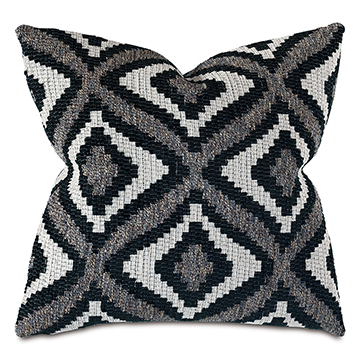 ALPEN DECORATIVE PILLOW IN BLACK