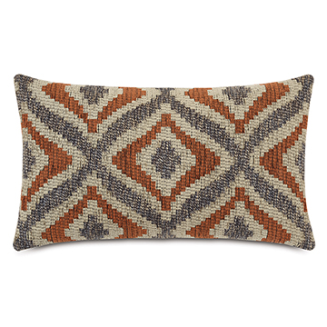 ALPEN DECORATIVE PILLOW IN RUST
