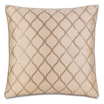 Bardot Bisque with Cord Extra Euro Sham