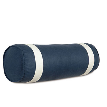 Bel Air Linen Bolster in Indigo