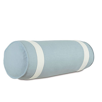 Bel Air Linen Bolster in Sky