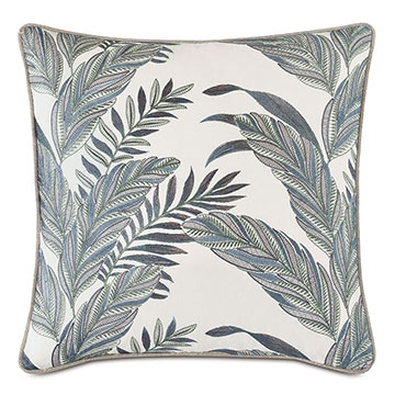 MONTECITO EMBROIDERED DECORATIVE PILLOW