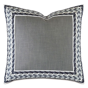 Montecito Embroidered Border Decorative Pillow