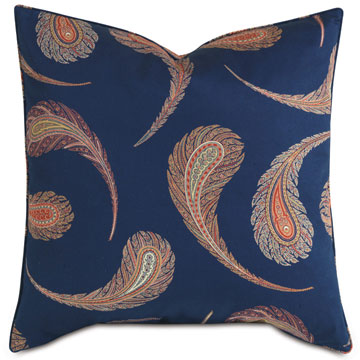 Aigrette Paisley Decorative Pillow