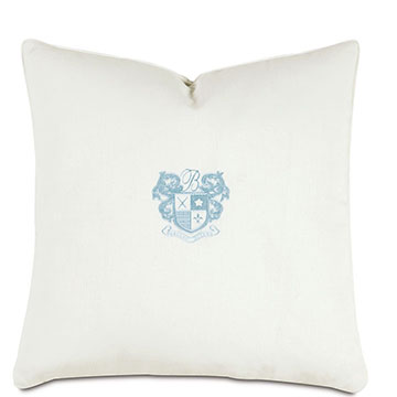 Shell/Sky Embroidery Decorative Pillow