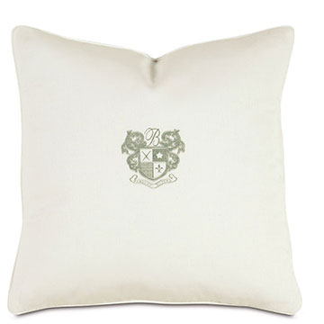Shell/Mint Embriodery Decorative Pillow