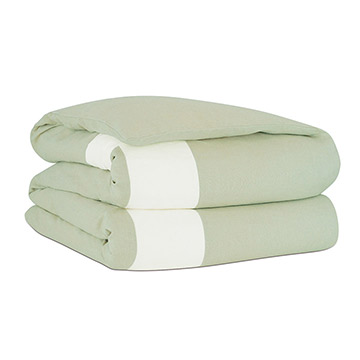 Bel Air Linen Duvet Cover in Mint and Comforter
