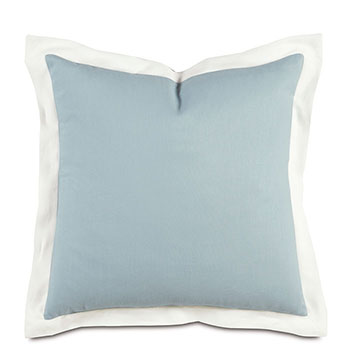 Bel Air Linen Euro Sham in Sky