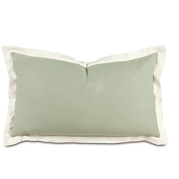 Mint/Shell Flange King Sham