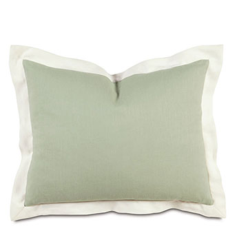 Bel Air Linen Standard Sham in Mint