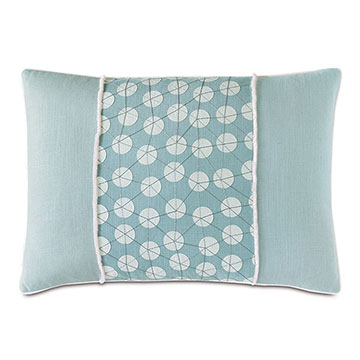 BIMINI EMBROIDERED DECORATIVE PILLOW