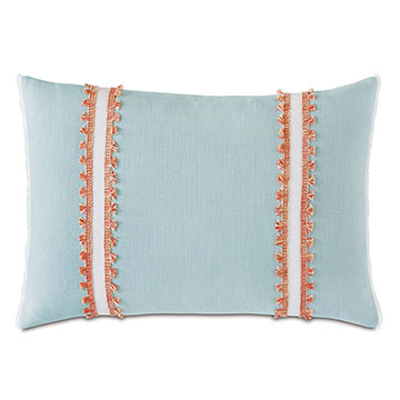 BIMINI FRILLY DECORATIVE PILLOW