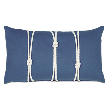 Maritime Bolster In Blue With Knot