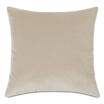 Plush Velvet Decorative Pillow in Sea Salt