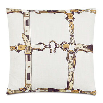 Lannister Horseshoe Decorative Pillow in Amber