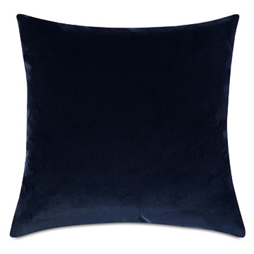 Plush Velvet Decorative Pillow In Navy