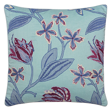Beulah Aqua Decorative Pillow