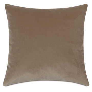 Uma Velvet Decorative Pillow In Khaki
