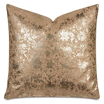 Sessile Metallic Decorative Pillow In Copper